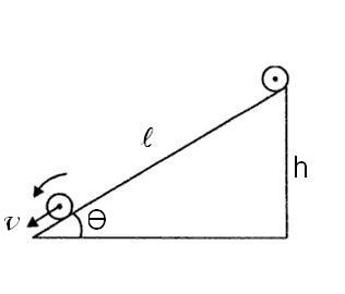 formula for acceleration of body rolling down a smooth inclined plane